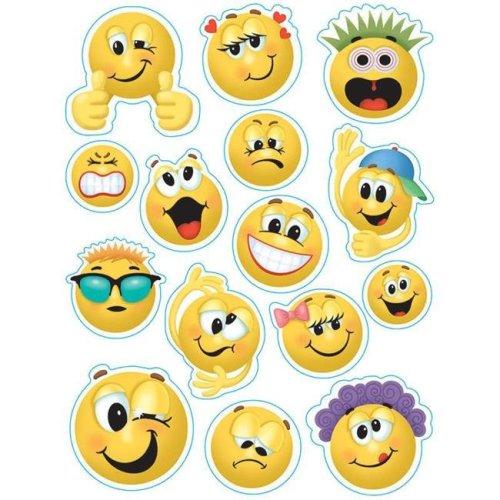 Eureka EU-836033BN 12 x 17 in. Emoticons Window Clings - Pack of 12
