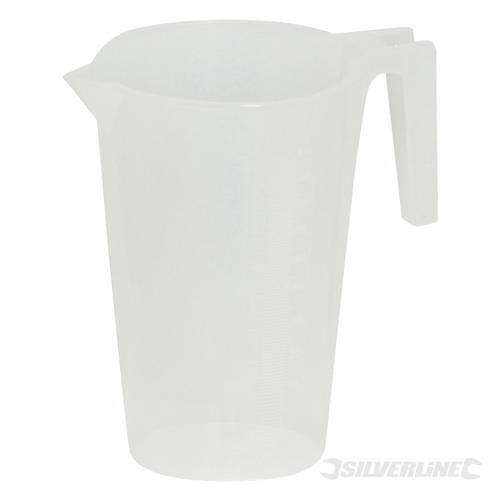 500ml Plastic Measuring Jug - Silverline 868838 -  measuring jug 500ml silverline 868838
