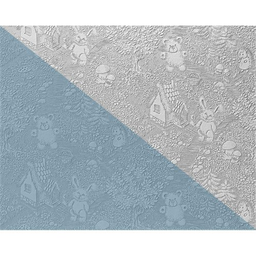 EDEM 361-60 XXL paintable non-woven wallpaper for kids white   26.50 sqm