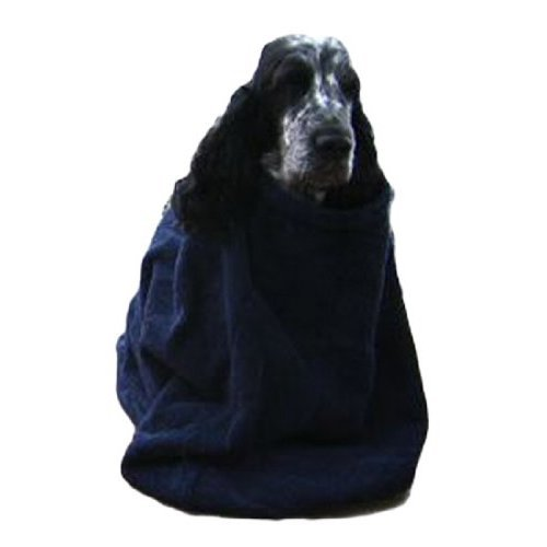 Dogs & Co Toweling Dog Dry Bag for Cocker/ Spaniel Sized Dogs, Size 4, Blue