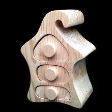 Three Drawer Unpainted Pine Trinket Box