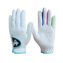 Soft and Comfortable Children Golf Gloves Fibre Cloth WHITE Both Hand 17#