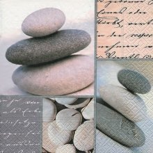 4 x Paper Napkins - Piled Stones - Ideal for decoupage / Napkin Art
