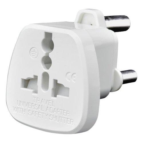 AMOS Universal UK USA EU AU to 3 Pin South Africa Travel Plug Adaptor Adapter