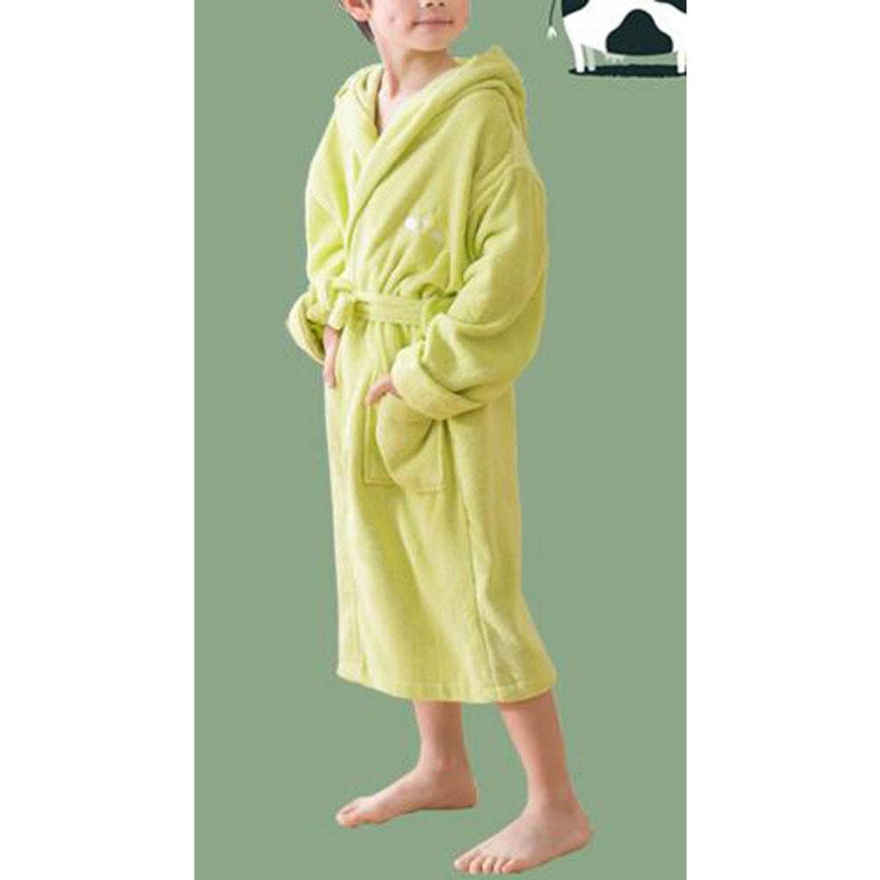 7b398e5217 ... Children Cotton Bathrobe Soft Swim Bath Gown Robes Pajamas with Hat-A09  - 1.