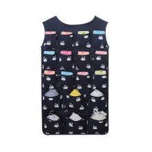 24-Pocket Double-sided Underwear Bra Socks Hanging Organizer Black White Rabbits