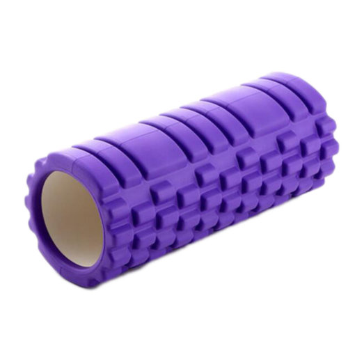 Yoga Foam Roller Wheel Yoga Massage Stick Muscle Relaxation Fitness Exercise 33 CM * 14 CM-Purple