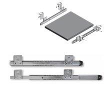 Drawer Runners Keyboard Shelf Adjustable Under desk computer slides - Silver