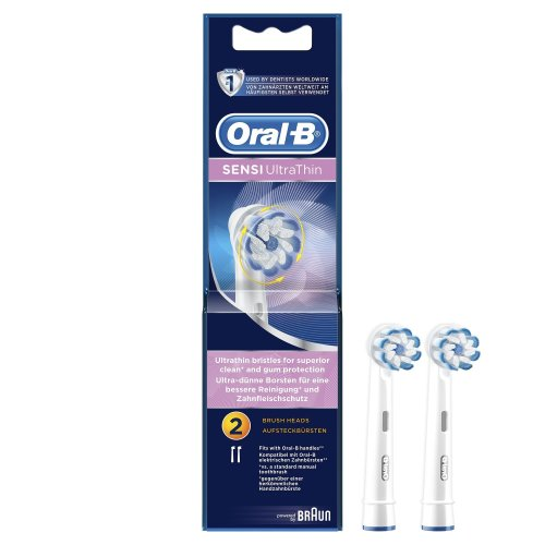 Oral-B Sensi Clean Electric Toothbrush Replacement Heads, Pack of 2