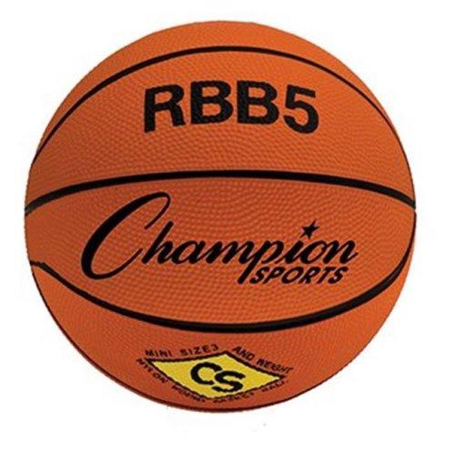 Champion Sports CHSRBB5 Mini Basketball 7In Diameter Orange