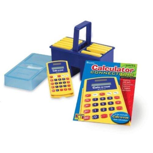 School Specialty Calc-U-Vue Student Calculators, Grades K-6 (Pack of 10)
