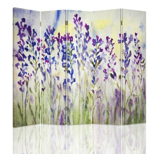 Lavender Watercolour Screen/Room Divider