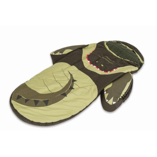 Littlelife Crocodile Snuggle Pod Inflatable Bed Mattress Sleeping Bag Kids Sleep