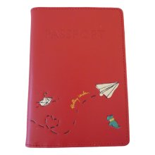 RADLEY 'Paper Trail' Red/Pink Leather Passport Cover