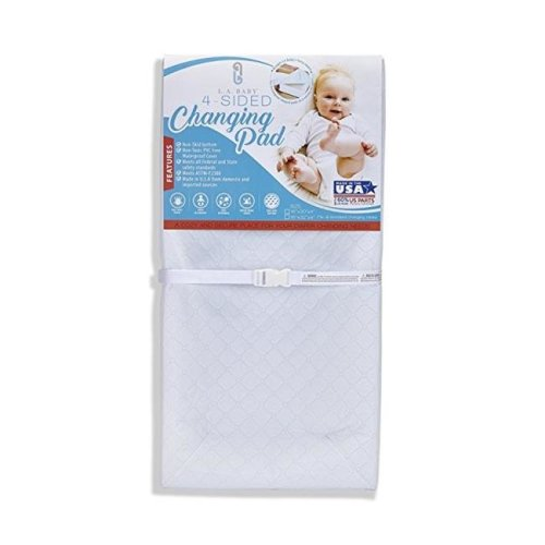 L.A. Baby P-5888-32QP Combo Pack with 32 in. 4 Sided Changing Pad and White Terry Cover