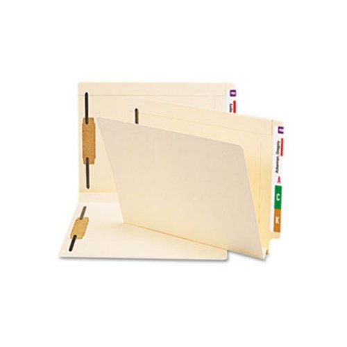 Hvywt Folders  2 Fasteners  W-fold Expansion  Straight End Tab  Ltr  MLA  50/Box