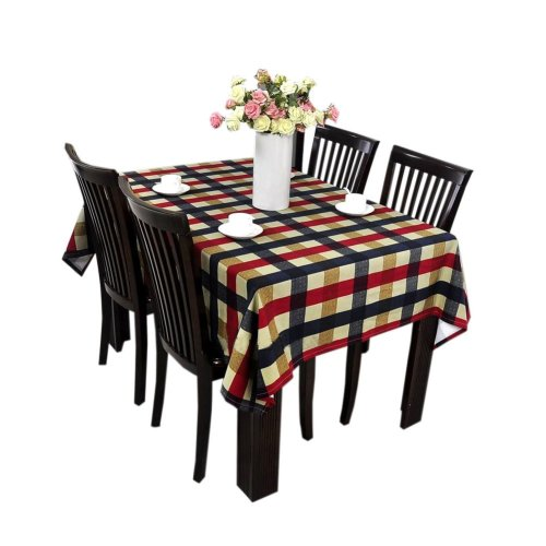 [Classic Plaid] Cotton Canvas Tablecloth / Table Cloth / Table Cover(57x62 Inch)