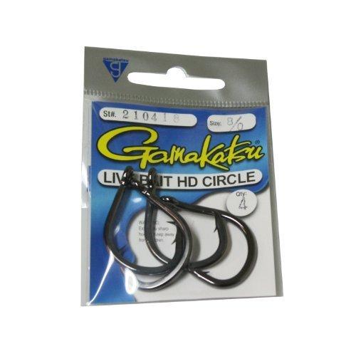 Gamakatsu Circle Bait Hook 5 Per Pack Black 6 0