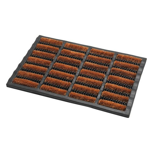 Addis Terrington Door Mat with Heavy Duty Rubber Tuff 100 Percent Bristle, Natural Coir, 60 x 40 cm
