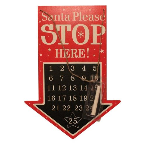Days Until Christmas Countdown.Anker Blackboard Days Until Christmas Countdown Plaque Santa Stop Here Arrow