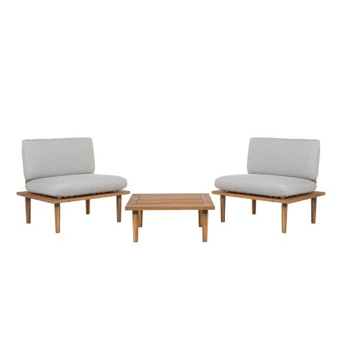 2 Seater Garden Sofa Set Grey FRASCATI
