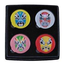 Set of 4 Crystal Peking Opera Refrigerator Magnets Magnetic Stickers
