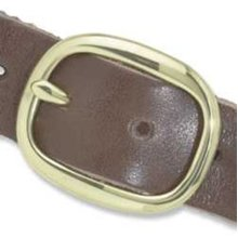Solid Brass Buckle Center -  solid brass buckle center bar 11 4 belt making design tandy leather 172101