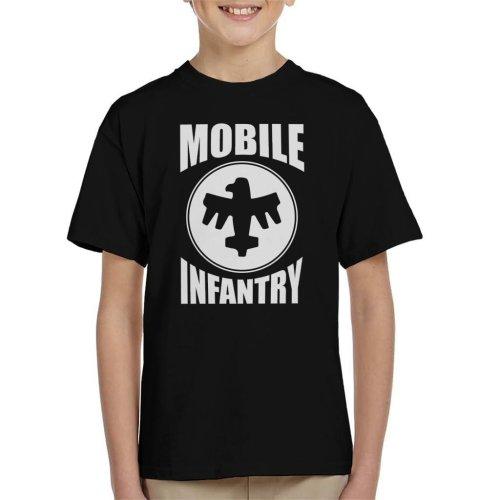 Mobile Infantry White Design Starship Troopers Kid's T-Shirt