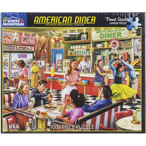 """Jigsaw Puzzle 1000 Pieces 24""""X30""""-American Diner"""