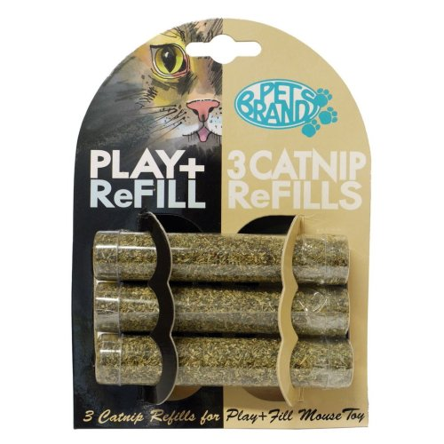 Play & Fill Refill Pack Of 3 Catnip Tubes (Pack of 12)