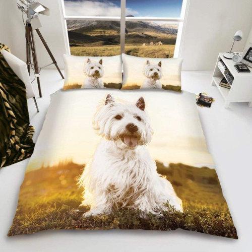 West Highland Terrier Westie Duvet Cover Set