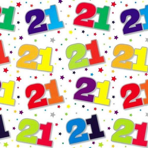 Simon Elvin 24 Sheets 21st Birthday Gift Wraps