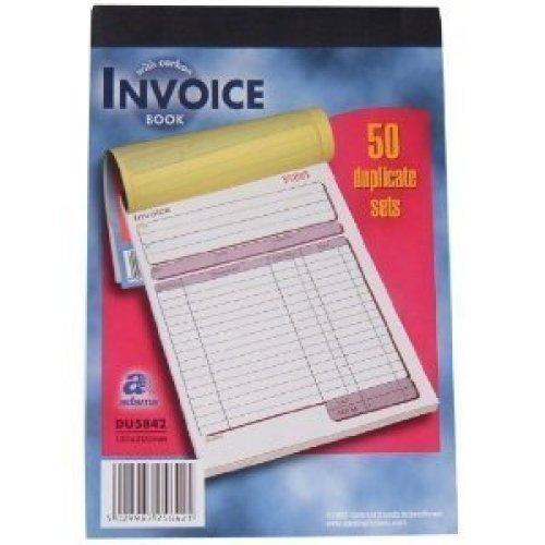 PUKKA PAD A5 (127x203mm) 50 Set NCR Duplicate Invoice Book Single DCU5842