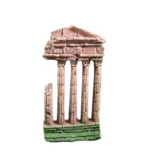 Resin Emulational Ancient Rome Aquarium Ornament, 9x3x17cm