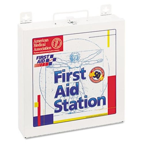 First Aid 226U First Aid Station for 50 People  196 Pieces  OSHA Compliant  Metal Case