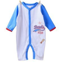 Baby Suit Baby Clothing Long-Sleeved Cotton Baby Crawl Sports Clothing Blue A