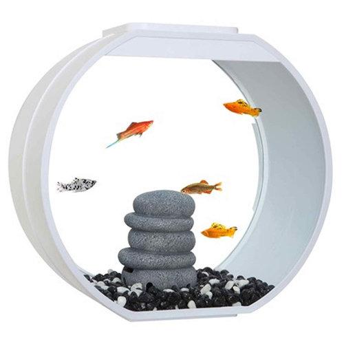 Fish R Fun Deco O Mini 10L Fish Tank   White Aquarium