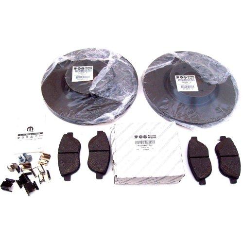 Fiat Doblo Genuine Front Brake Disc x 2 + Pads 71772589 46455892 77364897 2005