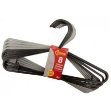 2 Assorted Colours Plastic Clothes Hangers Pack Of 8 -