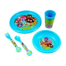 Moshi Monsters Official Dinner Set (pack Of 5) - Multi-colour - Bowl Plate Kids -  set bowl plate moshi monsters kids dinner piece 5 tumbler