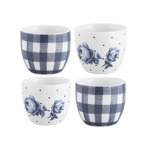 "Katie Alice ""Vintage Indigo"" Egg Cups, Blue, 4-Piece"