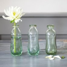 Recycled Glass Bottles - Set of 3