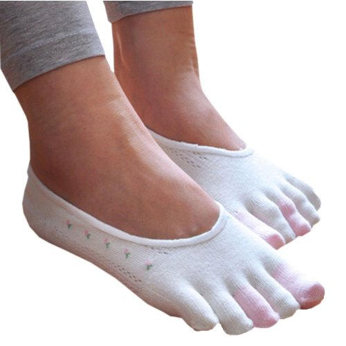 Womens [Afternoon Tea] Low Cut Five Toes Socks Five Fingers Ankle Socks 1 Pairs