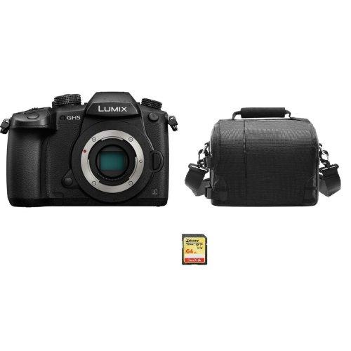 PANASONIC DMC-GH5 Body Black + 64GB SD card + camera Bag