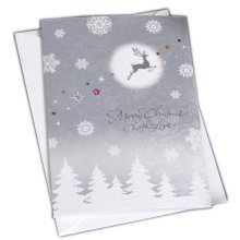 Christmas Cards Greeting Cards Christmas Gift Beauitful Xmas Cards (4 Cards and Envelopes), Silver#7