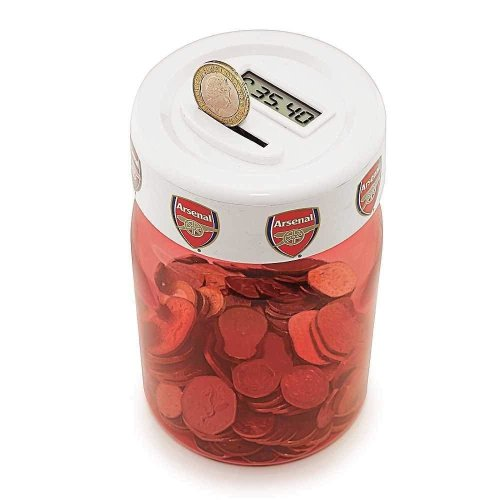 Arsenal Coin Jar - Digital Counting Coin Jar - Arsenal Money Box