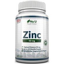 Nu U Nutrition ZINC 50mg 365 Tablets (12 Month's Supply)