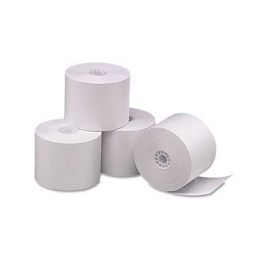 Accufax  05212 Single-Ply Thermal Cash Register-POS Rolls, 2.25 in. x 165 ft., White, 6-Pk
