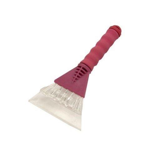 Ice Scraper With Comfortable Pink Foam Handle - Heavy Duty -  heavy duty ice scraper
