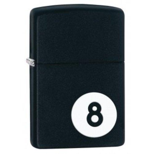 Matte Black 8-ball Zippo Lighter - 8 Ball Windproof -  8 ball lighter windproof black matte